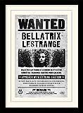 1art1 101707 Harry Potter - Bellatrix Lestrange, Gesucht Gerahmtes Poster Für Fans Und Sammler 40 x 30 cm