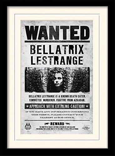 1art1 101707 Harry Potter - Bellatrix Lestrange, Gesucht Gerahmtes Poster Für Fans Und Sammler 40 x 30 - Magier Kostüm Bilder
