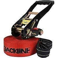 ALPIDEX Slackline 15 m (2 t), Color:I Love Slackline. Rojo