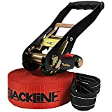 ALPIDEX Slackline 15 m (2 t), Color:I Love Slackline. Rojo