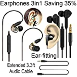 Transparent Deep Bass In Ear Monitor Kopfhörer Musiker Kopfhörer mit Mikrofon und Lautstärkeregler Gray_MP008_EP187