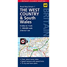 Road Map Britain 01. West Country & South Wales 1 : 200 000 (Aa Road Map Britain)