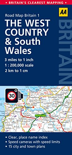 Road Map, The West Country & South Wales (AA Road Map Britain Series - 1) por AA Publishing