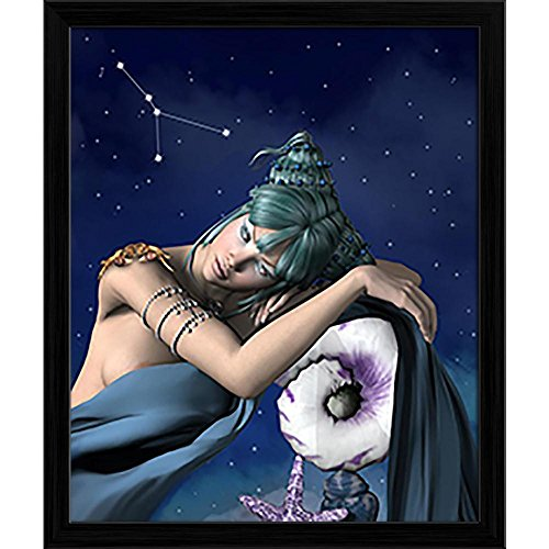 Pitaara Box Zodiac Series Cancer Canvas Painting Black Frame 20 X 24Inch - Serie Black Frame