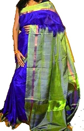 Fashion Flowerz Original Andhra Uppada Silk Sarees With Blouse For Women Multicolored...