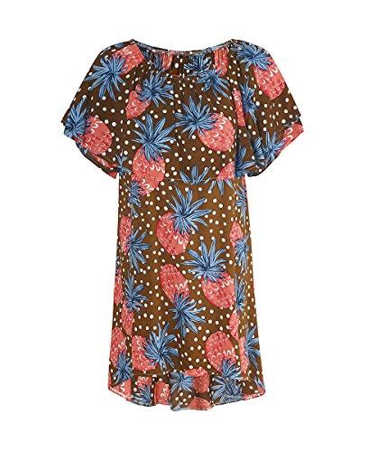 Vestito Donna Senza Spalline Stampato Floreale Boemia Vestiti da Spiaggia Abito Corto 7