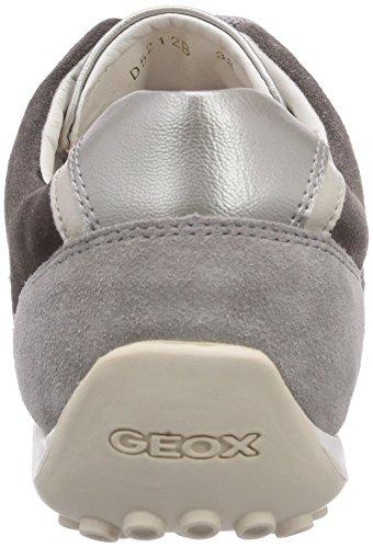 Geox D SNAKE B Damen Sneakers Weiß (OFF WHITE/LT GREYC0856)