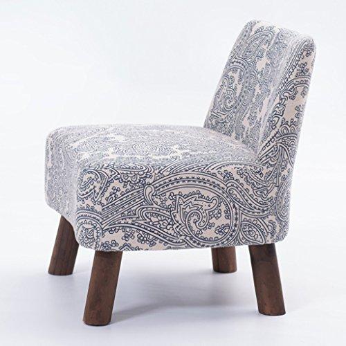 PLL Einfacher moderner hölzerner Schemel-Stoff-Kunst-Rückenlehnen-Stuhl-Sofa-Schemel-Kleiner Sofa-Stuhl (Color : Blue) (Kunst Kleinkinder Tische Für)