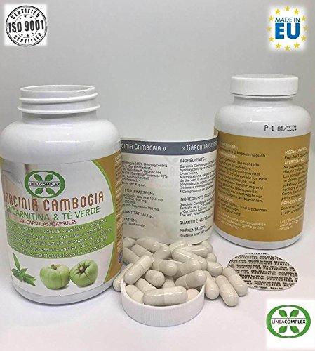 Garcinia cambogia con L-carnitina e tè verde per ridurre l\'appetito e accelerare il metabolismo LINEA COMPLEX 180 capsule - integratore alimentare con potenti proprietà dimagranti