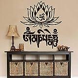 Jixiaosheng Beliebte YogaLotus Wandaufkleber Ausgangsdekor Vinyl Günstige Kunst Decals Abnehmbare Pvc Haus Dekor Schlafzimmer