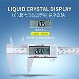 sunnymi Elektronische Digitale Messschieber Silber,150mm / 6inch Plastik,LCD Digital Electronic Carbon Fiber Messschieber Mikrometer (0–150 mm/ 0–6 inch., Silber)