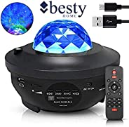 Original BESTY HOME Night Light Baby Star Projector, 10 Color Bluetooth night Lamp with Timer Remote, Dimmable