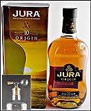Jura Origin 10 Jahre Single Malt Whisky & 1 Flaschenprtionierer aus Echtglas mit Naturkorkaufsatz, kostenloser Versand