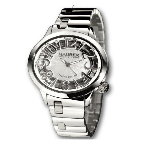 HAUREX ITALY White Dial Preziosa Watch #XA336DWM- Orologio da donna
