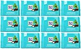 Ritter Sport Chocolate With Peppermint 100g - Pack of 12