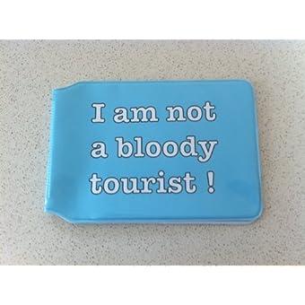blue-i Bin nicht A BLOODY Tourist Oyster Karte Halter