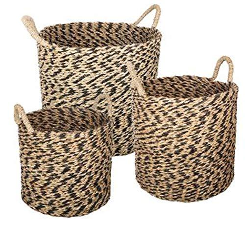 Set de 4 vintage rond bambous naturels pain en osier panier de stockage entraver plateaux
