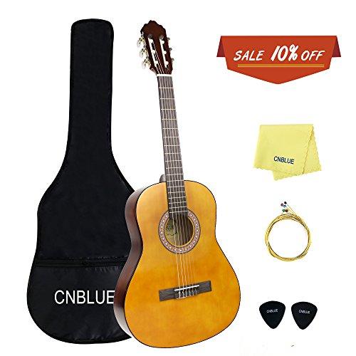 Volle Größe klassische akustische Gitarre 39 Zoll 6 Nylon Saiten Gitarre für Anfänger Kinder Guitar (Akustik-volle Größe-gitarre)
