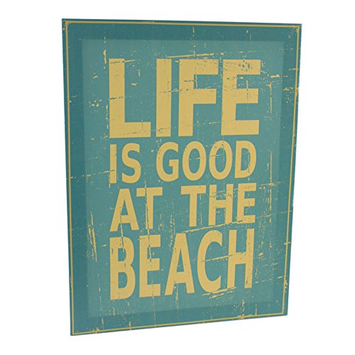life-is-good-at-the-beach-wall-canvas-40x30cm-quote-wall-plaque-picture-gift
