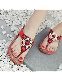 Pantoufle femme été 2017 mode porter haut diamant tongs sauvages sandales et pantoufles fond épais chaussures de plage marée C9Ib1l