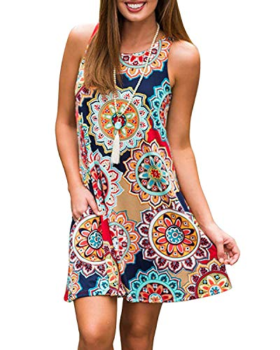 Abravo donna casual vestiti a tracolla sottile estivo bohemian stampa fiore abiti da spiaggia senza maniche elegante mini abito a pieghe vestito da partito