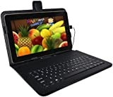 """BLACK KEYBOARD CASE FOR 10"""" ANDROID PC TABLET NETBOOK"""