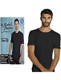 YSABEL MORA - Camiseta TÉRMICA Hombre Hombre Color: Negro Talla: S