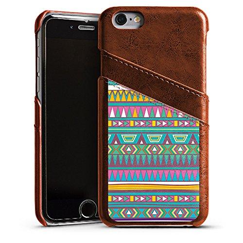 Apple iPhone 5s Housse Étui Protection Coque Motif Motif couleurs Étui en cuir marron