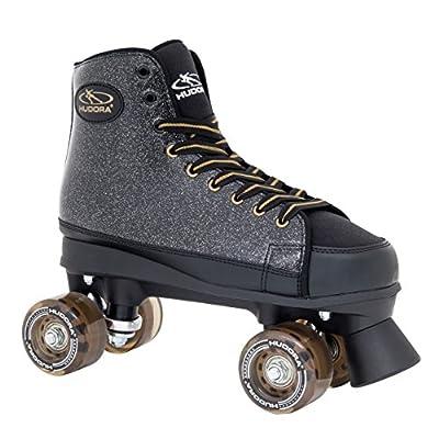 HUDORA Rollschuhe Roller-Skates Black Glamour, Disco-Roller, Gr. 36-42
