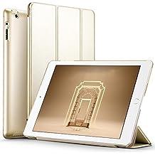 Carcasa iPad 2/3/4 Funda, ESR Serie Yippee iPad 2/3/4 Carcasa Smart Cover de Triple Plegado para iPad 4/3/2 Funda (Champagne Oro)