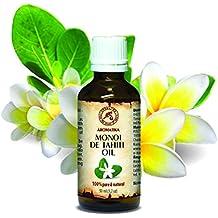 Huile de Monoï de Tahiti - natif - Monoï de Tahiti huile - 100% Pure et Naturelle 50ml - bouteille en verre - France - huile pour le corps - riche en vitamines - visage soins - cheveux - peau - soins du corps