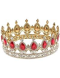 Reina del Rey Novia Tiaras Diamantes de Imitación Corona Oro Plateado Joyería ...