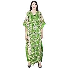 SKAVIJ Indien Femme Caftan Abaya Longue Couverture Soiree Robe Kimono  Boheme Tunique Cocktail imprimé Fleuri Ethnique f224f43713d