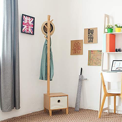 CCYPTD Bodenstehender Massivholzrahmen, Europäischer Kleiderständer Schlafzimmer Kleiderbügel Boden Massivholz Kreativer Kleiderständer Für Schuhbank.