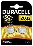 Duracell Batterie al Litio Specialistiche a Bottone, Stilo 2032, Confezione da 2