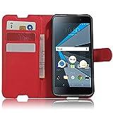 Blackberry DTEK50 Hülle, Wrcibo Flip Case Cover PU