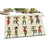 LB 60x40cm lavable antidérapant doux Tapis de bain Tapis Femmes africaines Morden Motif Tapis pour couloir porte cuisine salle de bains