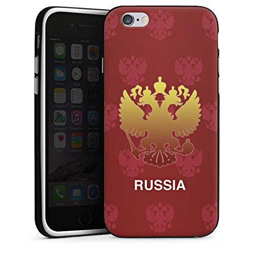 Apple iPhone X Silikon Hülle Case Schutzhülle Russland EM Trikot Fußball Europameisterschaft Silikon Case schwarz / weiß