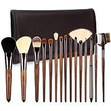 Zoreya | 15 New pinceles Luxe cepillos de maquillaje cosmética Kit Profesional sintéticas | calidad superior | Cosmetic Makeup Brush Set 15pcs | bolsa de ...