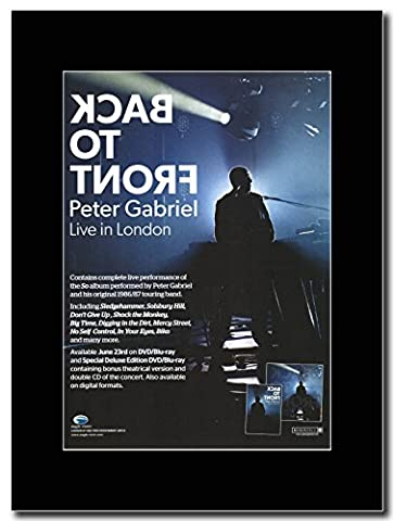 Peter Gabriel – Back To Front Live in London Magazin Promo auf A schwarz Mount