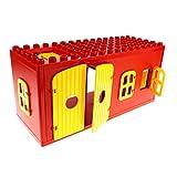 1 x Lego Duplo Gebäude Scheune rot gelb 6x16x6 gross Haus Bauernhof Stall Puppenhaus Fenster Tür Tor Set 2655 4808 4807 bb265 4802 4800