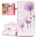 ISAKEN Kompatibel mit Galaxy Grand Prime Hülle, PU Leder Brieftasche Geldbörse Handyhülle Tasche Case Schutzhülle Hülle mit S