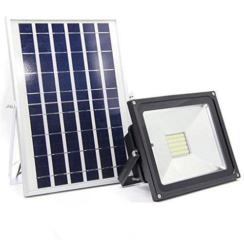 10W LED Solarleuchte Solarbetriebene Gartenleuchte Dimmbar Fernbedienungskontrolle Energie sparende Solarlampe Weiß Wasserdicht Außenleuchte IP65 Bodeneinbauleuchte für Outdoor Garten