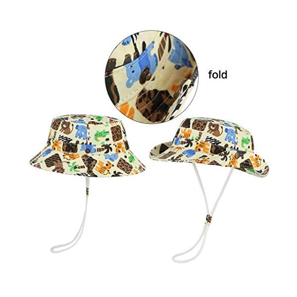 Cloud Kids Bob - Sombrero para bebé, unisex, algodón, protección contra rayos UV, verano, plegable, viaje 4