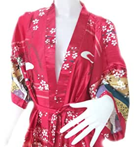 HelloThailand (VERY NICE ROBE SOFT & LIGHT) BEAUTIFUL COLOR WOMEN JAPANESES KIMONO