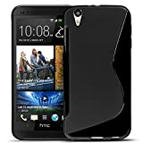 HTC Desire Eye Silikon Hülle Case in Schwarz Cover Desire