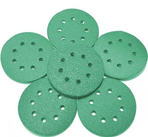Preisvergleich Produktbild 125 mm green Exzenter Schleifscheiben , passend für Bosch DIY PEX 220 A Sortiment SET 5 Scheiben P800 P600 P400 P320 P240 , green Film