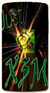 Prominent multicolor printed protective REBEL mobile back cover for LG Nexus 5 / Google Nexus 5 D.No.N-T-3671-NX5