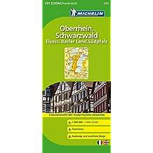 Schwarzwald, Elsass, Oberrhein (Michelin Zoomkarte)