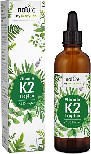 Vitamin K2 MK-7 75ml 200µg - 2.550 Vegane Tropfen - 99,7% Höchster All-Trans Gehalt - Premium Gnosis VitaMK7 hoch Bioverfügbar natürlich fermentiert - Laborgeprüft hergestellt in Deutschland